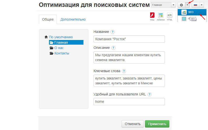 Сео-оптимизация-кострутора сайтов